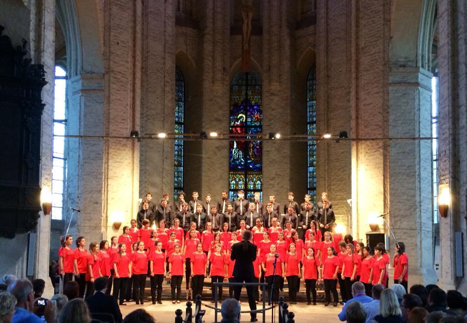 Uno de los primeros conciertos del grupo como Coro de Jóvenes de Madrid, en Usedom (2014)